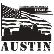 Texas, Austin label — Stock Vector