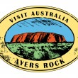 Royalty-Free Stock Vector Image: Ayers Rock, Australia stamp