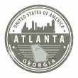 Georgia, Atlanta stamp — Stock Vector