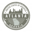 Georgia, Atlanta stamp — Stock Vector #13339763