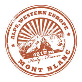 Mont Blanc, Alps stamp — Stockvector