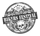Timbre festival de motards — Vecteur