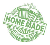 Home Made beer stamp — Vettoriale Stock