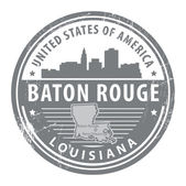 Louisiana, Baton Rouge stamp — Stock Vector