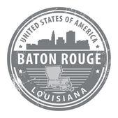 Louisiana, Baton Rouge stamp — Stock Vector