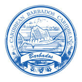 Barbados, Caribbean stamp — Stock Vector