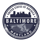 Maryland, Baltimore — Stock Vector