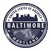 Maryland, Baltimore — Stock Vector