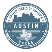 Texas, Austin — Stock Vector