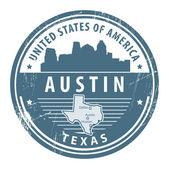 Texas austin — Stok Vektör