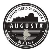 Maine, Augusta stamp — Stock Vector