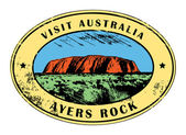 Ayers Rock, Australia stamp — Stock Vector