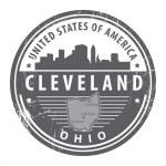Ohio, Cleveland stamp — Stock Vector #13489950