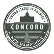 Stock Vector: New Hampshire, Concord stamp