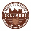 Stock Vector: Ohio, Columbus stamp