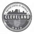 Ohio, Cleveland stamp — Stock Vector