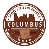 Ohio, Columbus stamp — Stock Vector