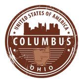 Ohio, Columbus stamp — Stock Vector