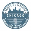 Illinois, Chicago stamp — Stock Vector #13490141