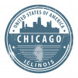 Illinois, Chicago stamp - Stock Vector