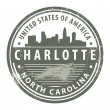 North Carolina, Dallas stamp - 图库矢量图片