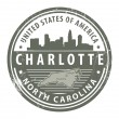 North Carolina, Dallas stamp - Stockvectorbeeld