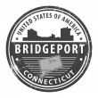 Connecticut, Bridgeport stamp - Stock Vector