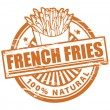 French fries stamp - Stockvectorbeeld