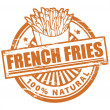 French fries stamp - Stock vektor