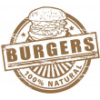 Burgers stamp - Stock Vector