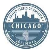 Illinois, chicago damgası — Stok Vektör