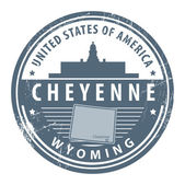 Wyoming, Cheyenne — Stock Vector