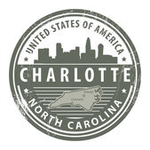 North Carolina, Dallas stamp — Stok Vektör