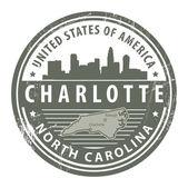 Carolina del norte, sello de dallas — Vector de stock