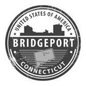 Connecticut, Bridgeport stamp — Stock Vector
