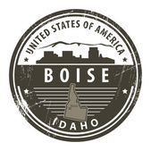 Idaho, Boise stamp — Stock Vector
