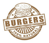 Burgers stamp — Stock Vector
