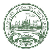 Budapest, Hungary stamp — Stock Vector