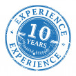 10 Years Experience stamp — Stock Vector