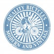 Quality Bicycles stamp — Stock Vector