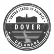 Delaware, Dover stamp — Stock Vector