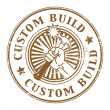 Stock Vector: Custom build stamp