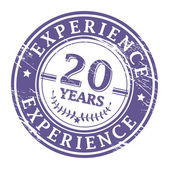 20 Years Experience stamp — Vector de stock