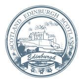 Edinburgh, skottland stämpel — Stockvektor