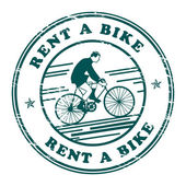 Rent a Bike stamp — Stock Vector