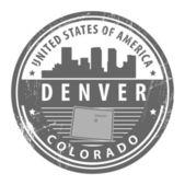 科罗拉多州的丹佛邮票 — 图库矢量图片