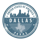 Texas, Dallas stamp — Stok Vektör