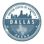Texas, dallas damgası — Stok Vektör