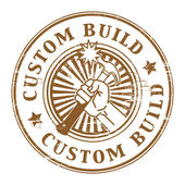 Custom build stamp — Stock Vector