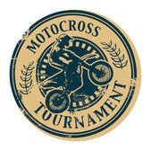 Motocross stämpel — Stockvektor